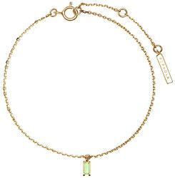 Něžný pozlacený náramek s přívěskem APPLE ASANA Gold PU01-068-U