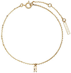 Něžný pozlacený náramek se zirkonovým přívěskem ASANA Gold PU01-067-U