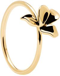 Něžný pozlacený prsten ze stříbra NARCISE Gold AN01-182