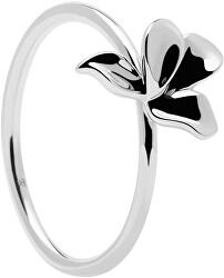 Něžný stříbrný prsten NARCISE Gold AN02-182
