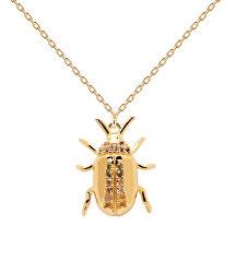 Originální pozlacený náhrdelník BALANCE Beetle Amulet CO01-257-U (řetízek, přívěsek)