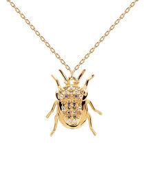 Originální pozlacený náhrdelník LUCK Beetle Amulet CO01-254-U (řetízek, přívěsek)