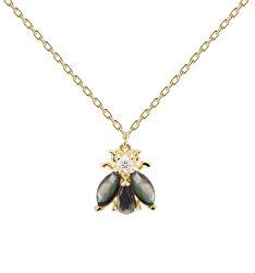 Originální pozlacený náhrdelník s překrásnou včelkou ZAZA Gold CO01-198-U