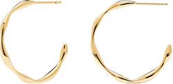 Pozlacené minimalistické náušnice kruhy ze stříbra VANILLA Gold AR01-306-U