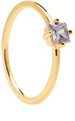 Bájos aranyozott gyűrű cirkónium kövekkel LAVENDER LIS AN01-196