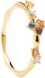 Bájos aranyozott gyűrű cirkónium kövekkel FIVE Gold AN01-210