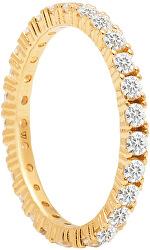 Csillogó aranyozott gyűrű cirkónium kövekkel NAOMI Gold AN01-144