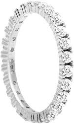 Csillogó ezüst gyűrű cirkónium kövekkel NAOMI Silver AN02-144