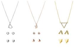 Elegantný darčekový set náušníc a náhrdelníkov PXX7970