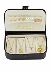 Nadčasový darčekový set náušníc a náhrdelníkov PXX0180Q