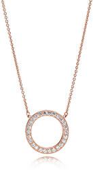 Bronzový náhrdelník s třpytivým přívěskem Rose 580515CZ-45