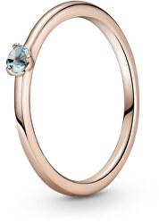 Půvabný bronzový prsten s krystalem Rose 189259C02