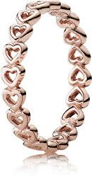 Bronzový srdíčkový prsten 180177