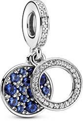 Dvojitý stříbrný přívěsek Sparkling Blue 799186C01
