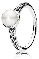 Elegantní prsten s perlou 191018P