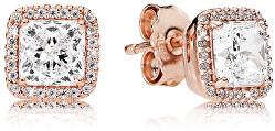 Luxusní bronzové náušničky s krystaly 280591CZ