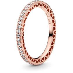 Luxusní bronzový třpytivý prsten ze stříbra 180963cz