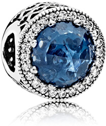 Luxusní korálek s tmavě modrým krystalem 791725NMB