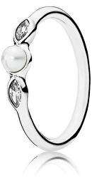 Nežný prsteň s perličkou 190964P