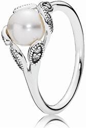 Nežný prsteň s perličkou 190967P-54