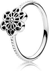 Něžný stříbrný prsten Květina 190992