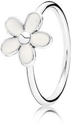 Nežný strieborný prsteň so sedmokráskou Daisy 190899EN12