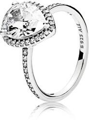 Oslnivý stříbrný prsten 196251CZ