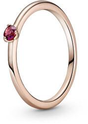 Půvabný bronzový prsten s krystalem Rose 189259C01