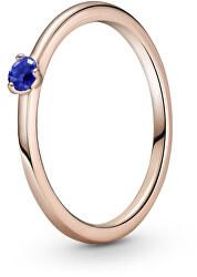 Půvabný bronzový prsten s krystalem Rose 189259C04