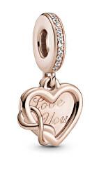 Romantický bronzový přívěsek ve tvaru srdce Rose 789369C01
