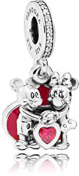Romantický přívěsek Láska Mickeyho a Minnie 797769CZR