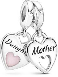 Srdíčkové přívěsky Matka a dcera Double Heart 799187C01