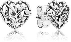 Stříbrné náušnice Kvetoucí srdce 297085