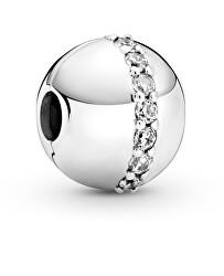 Stříbrný klipový korálek se zirkony Moments 799403C01
