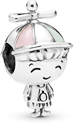 Charm in argento Bambino con cappellino 798015ENMX