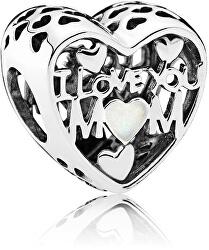 Stříbrný korálek Miluji Tě, mami 792067EN23