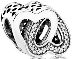 Stříbrný korálek Propletená srdce 791880CZ