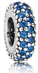 Charm in argento con pavè blu 791359NCB