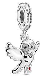 Stříbrný korálek Sova Hedvika Harry Potter 799123C01