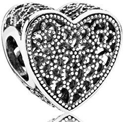 Stříbrný korálek Srdce 791811