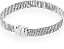 Stříbrný mesh náramek Reflexions 597712