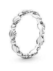Stříbrný mušličkový prsten Moments 198943C00