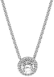 Stříbrný náhrdelník s třpytivým přívěskem 396240CZ-45