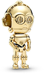 Stříbrný pozlacený korálek Star Wars C-3PO 769244C01