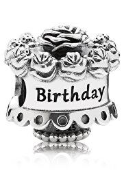 Strieborný korálik Happy Birthday 791289