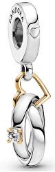 Strieborný prívesok Snubné prstene 799319C01