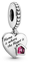 Stříbrný přívěsek Srdce s láskou k domovu 799324C01
