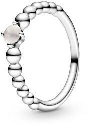 Stříbrný prsten pro ženy narozené v červnu 198867C06