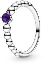 Stříbrný prsten pro ženy narozené v únoru 198867C03