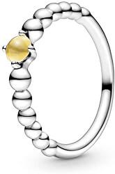 Stříbrný prsten pro ženy narozené v listopadu 198867C11